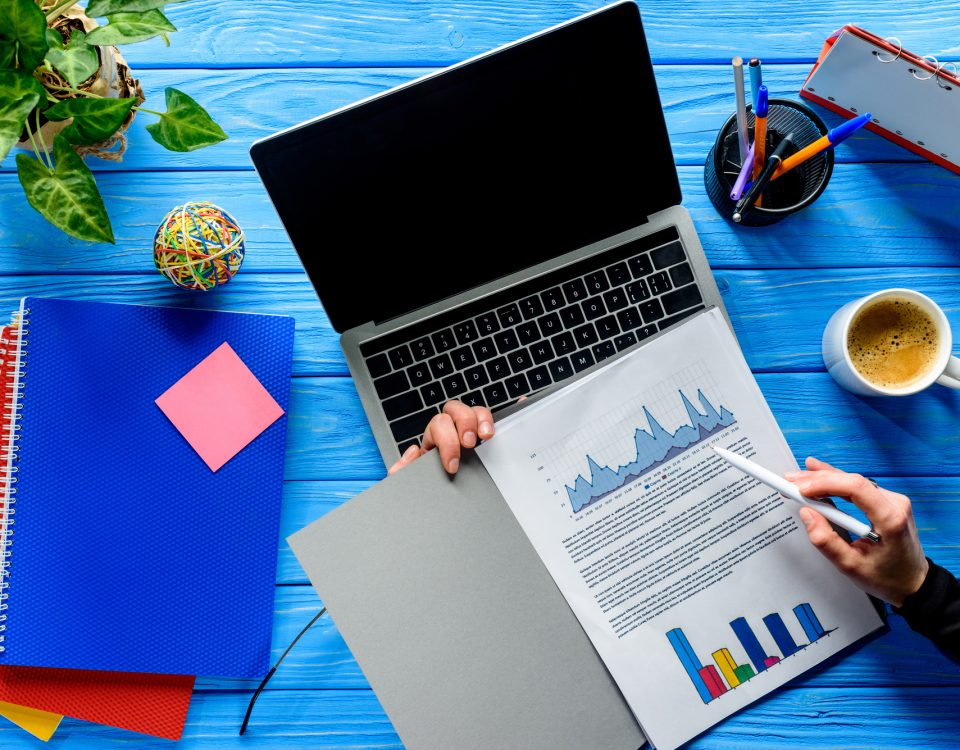Business Growth concept with laptop/Build a Personal Concierge Business/Starting a Concierge Business/www.theconcieregeacademy.com