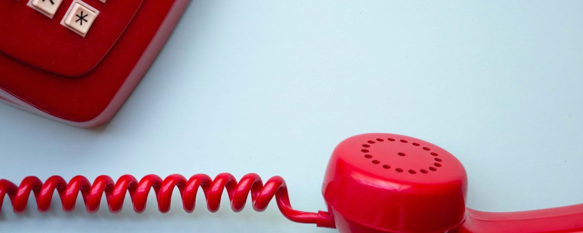 red telehpone isn't ringing and business is slow