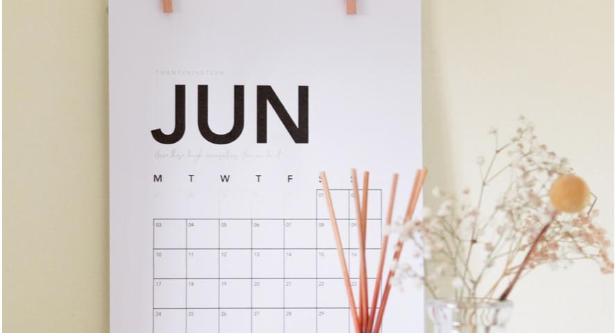 June Calendar// meet your business goals