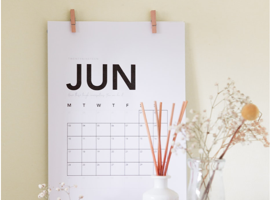 June Calendar// meet your business goals